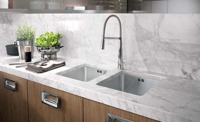 Evier de cuisine sous plan l 39 avenir des cuisines moderne - Evier sous plan de travail granit ...