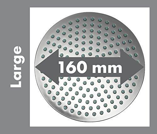Diamètre-de-la-douche-de-tête-de-160mm Notre avis sur la colonne de douche Hansgrohe Showerpipe Marin² 160 Chrome
