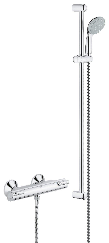 GROHE Mitigeur Thermostatique de Douche Grohtherm grohe - Notre avis sur le set de douche GROHE Mitigeur Thermostatique 1000 avec bras et douchette