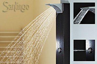 Notre avis sur la colonne de douche Sanlingo Noire avec jets massage