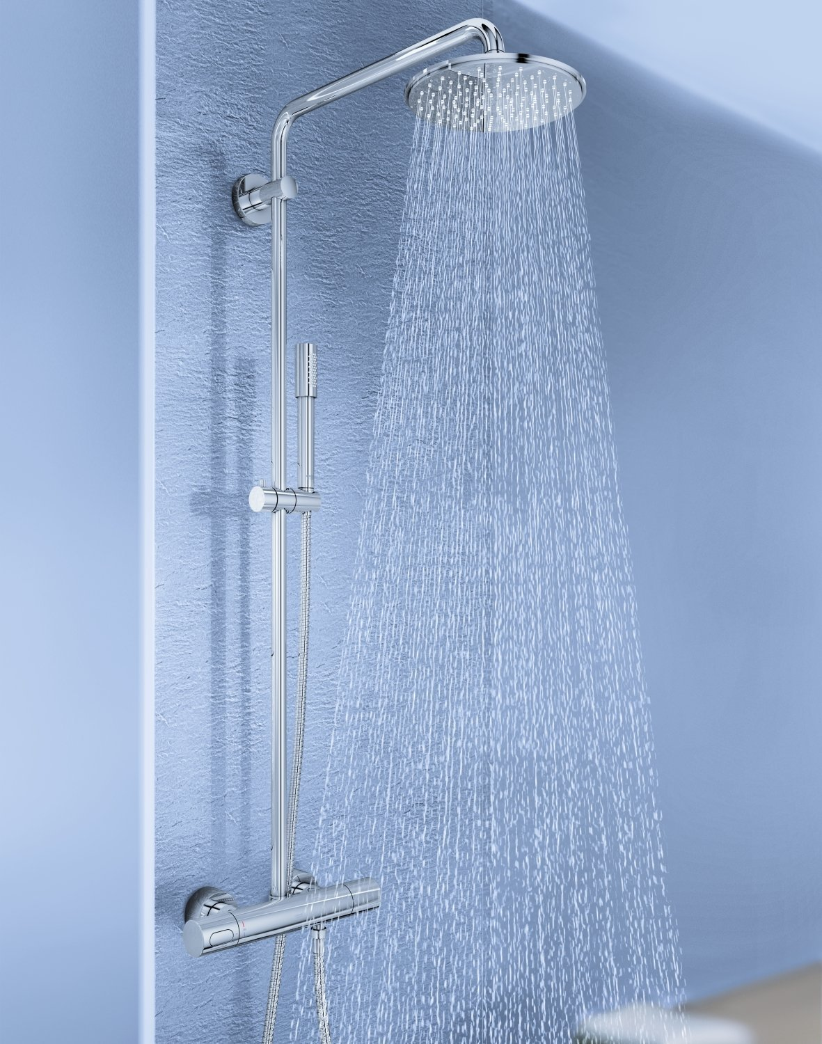 colonne de douche grohe rainshower 210 avec thermostat. Black Bedroom Furniture Sets. Home Design Ideas