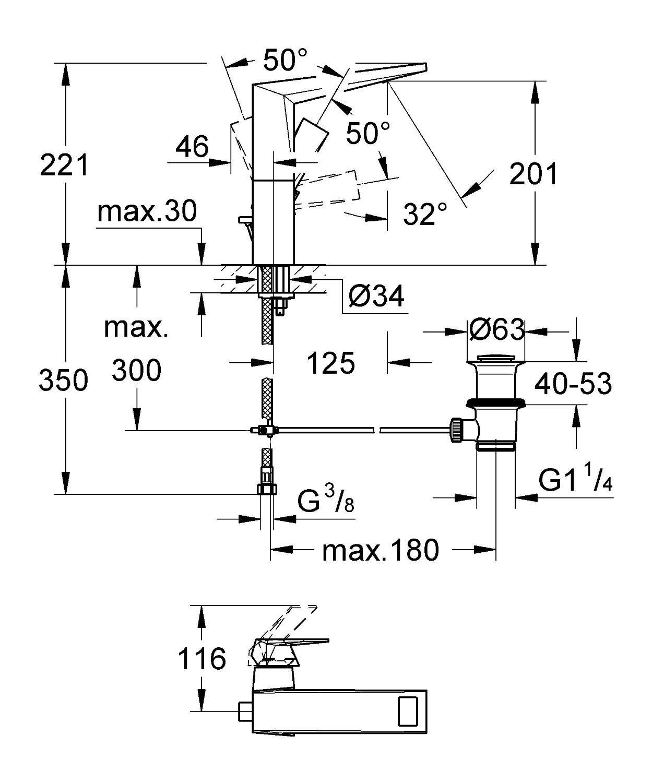 installation et AVIS mitigeur Lavabo / vasque Grohe Allure