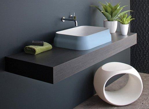 meuble lavabo design en bois design  zen