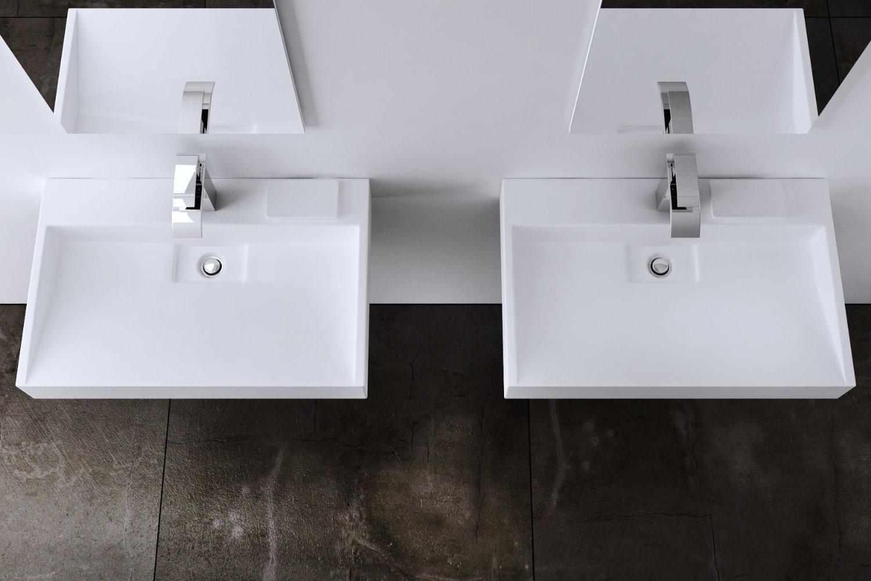 lavabo vasque à poser Colossum blanche suspendue