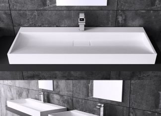 Installer une vasque a encastrer consobricocom for Salle de bain design avec vasque en verre rectangulaire