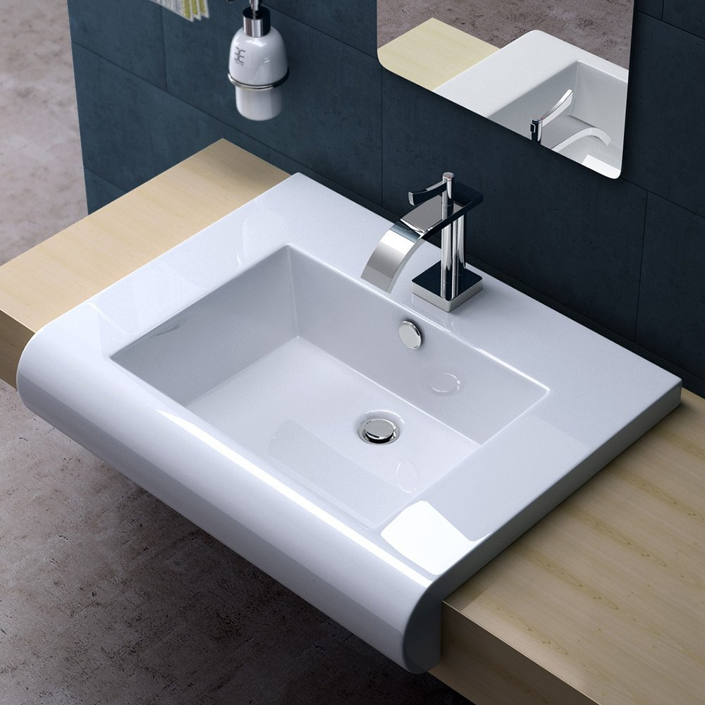 lavabo design latest vasque poser ronde haute solid surface blanc mat cm nature with lavabo. Black Bedroom Furniture Sets. Home Design Ideas