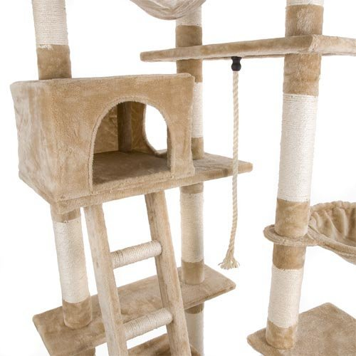notre avis sur l 39 arbre chat avec griffoir et grattoir 230 260cm happypet. Black Bedroom Furniture Sets. Home Design Ideas