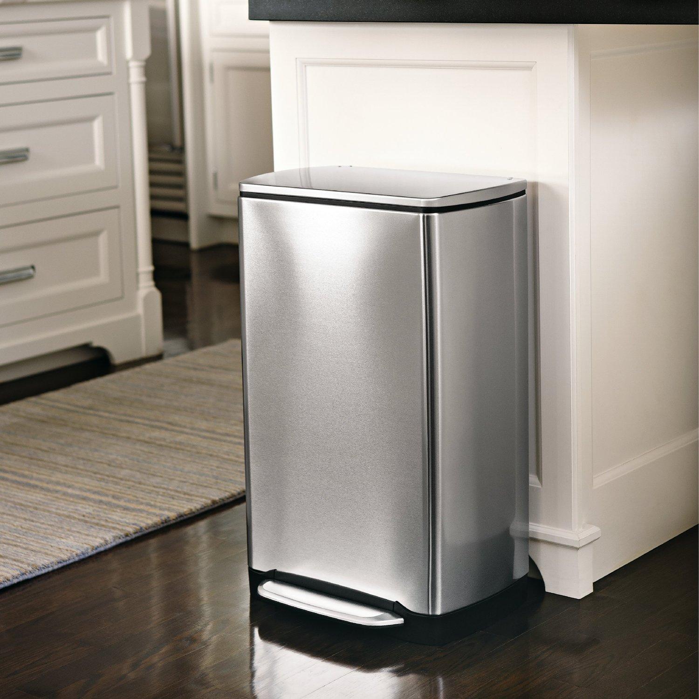 notre avis sur la poubelle p dale 38l simplehuman en inox et anti traces. Black Bedroom Furniture Sets. Home Design Ideas