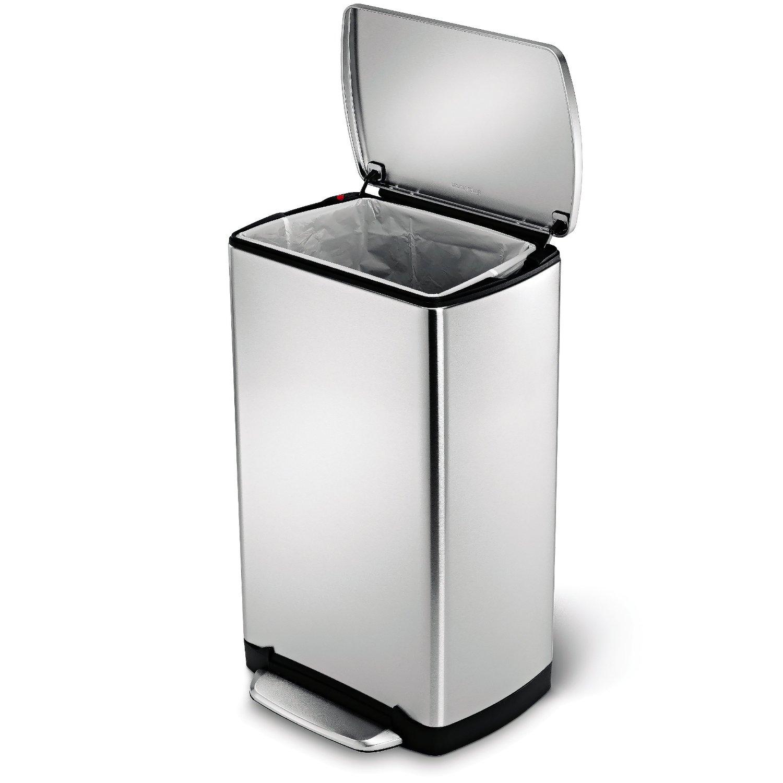 Notre avis sur la poubelle à pédale 38l simplehuman en inox et ...