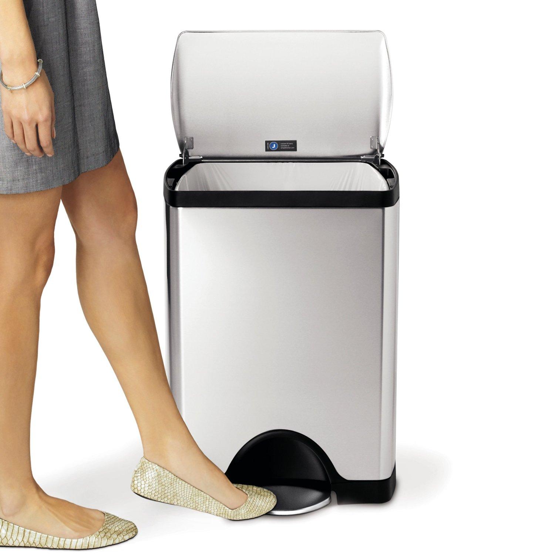 notre avis sur la poubelle p dale 30l simplehuman en inox bross anti traces. Black Bedroom Furniture Sets. Home Design Ideas