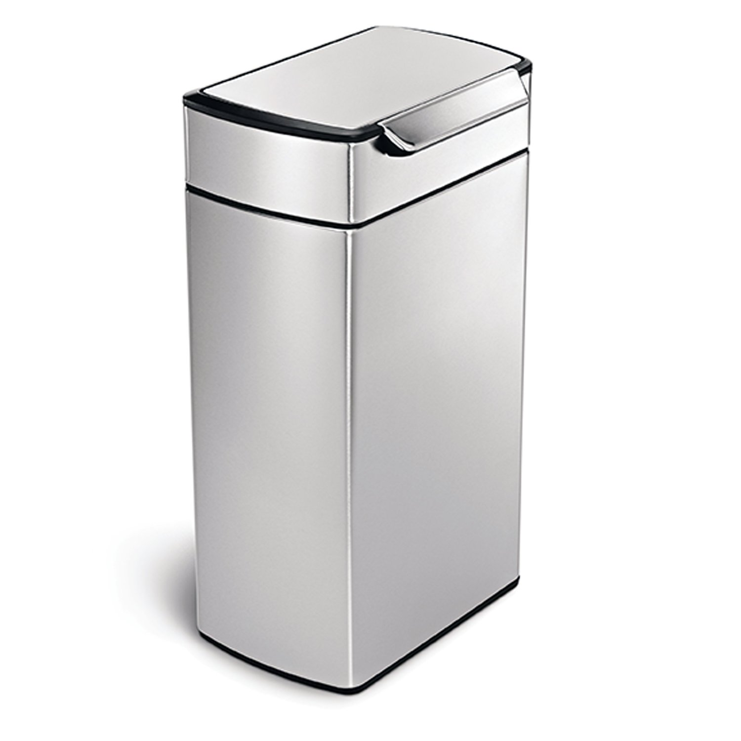Simplehuman 40L touch-bar, inox brossé anti-traces