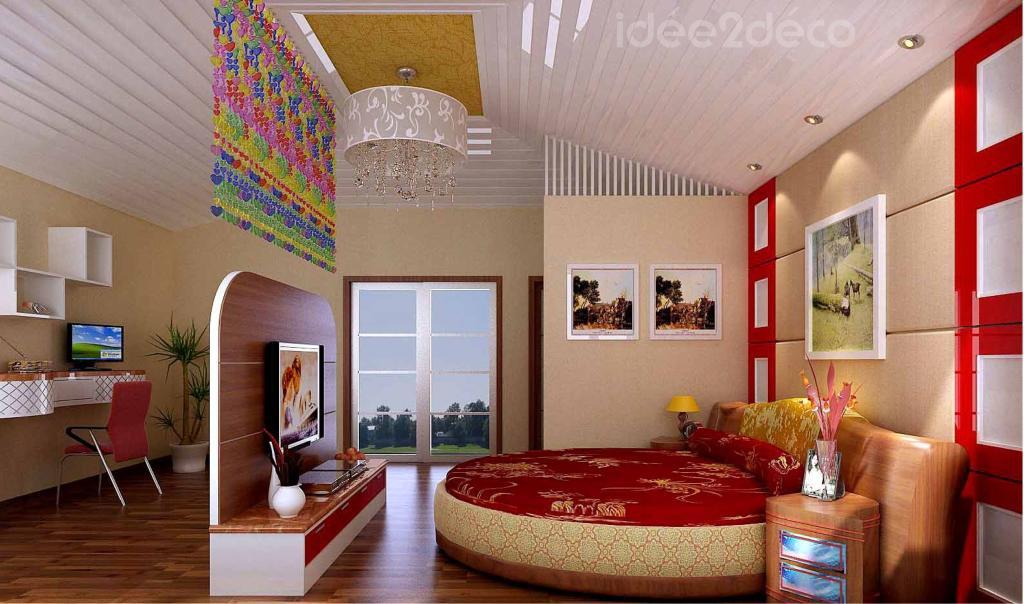 am nagement d 39 une petite chambre avec espace bureau. Black Bedroom Furniture Sets. Home Design Ideas