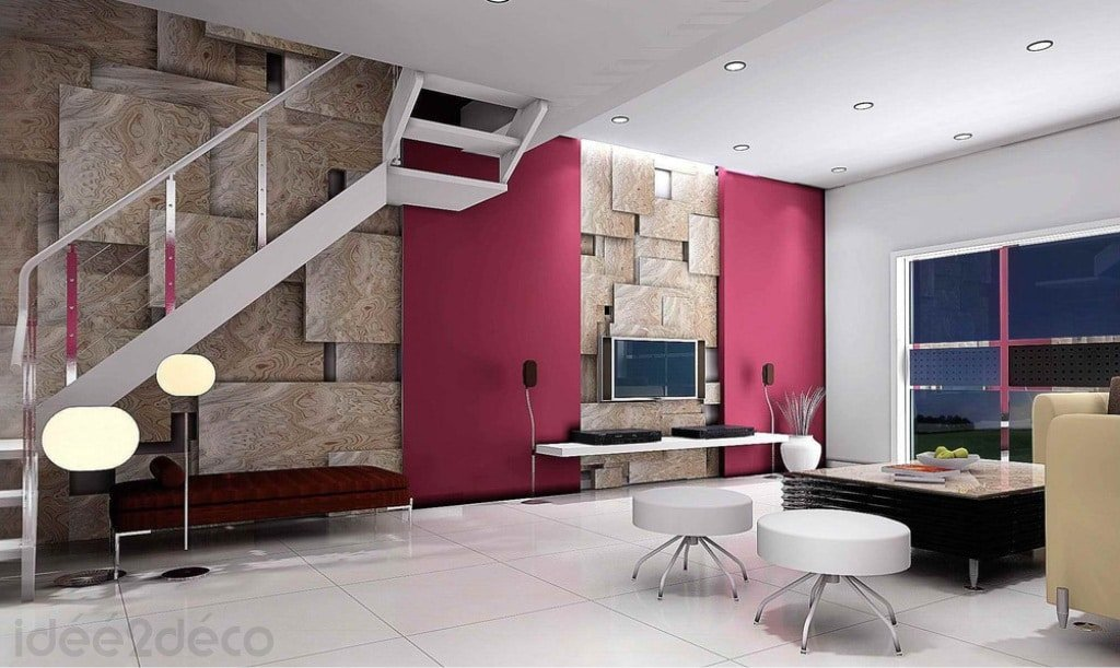 Comment d corer un grand duplexe par ses murs for Decoration maison fushia