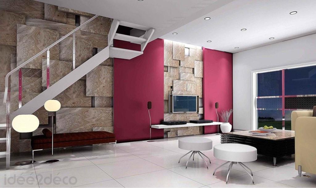 décorer un grand duplexe par ses murs