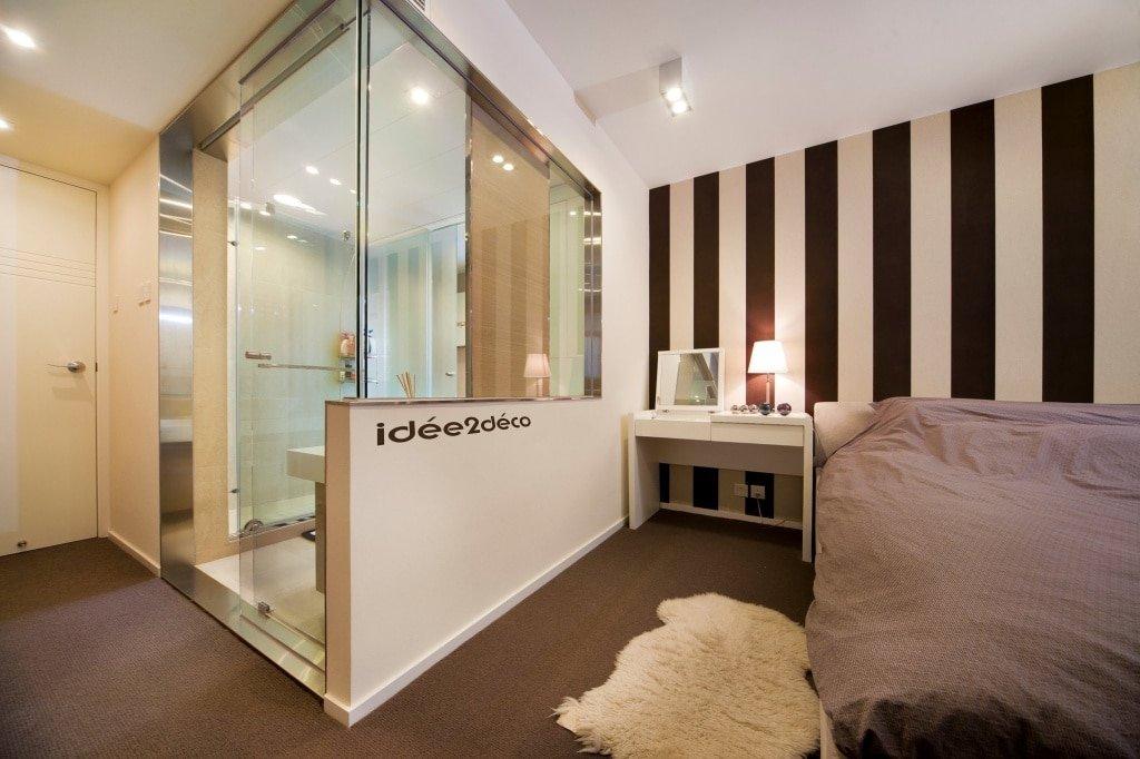 Creer une salle de bain dans une chambre maison design - Faire une salle de bain dans une chambre ...