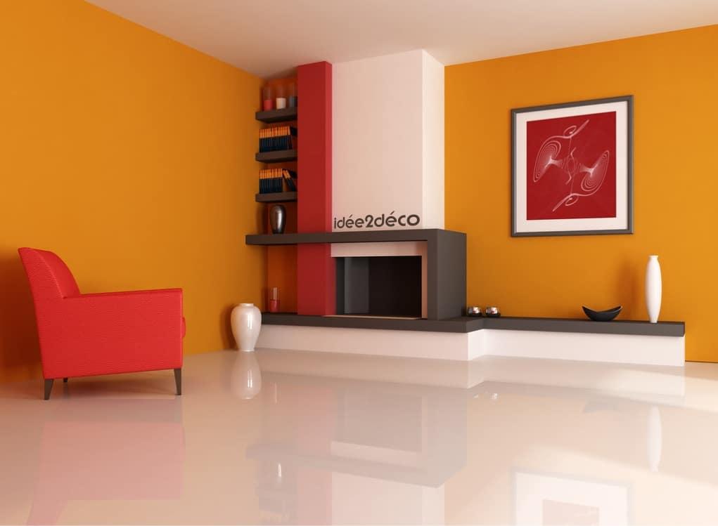 Id e de d coration pour salon pur moderne et chaleureux - Idee de couleur pour salon ...