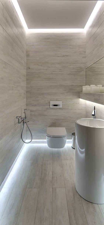 Salle de bain lumière latérale