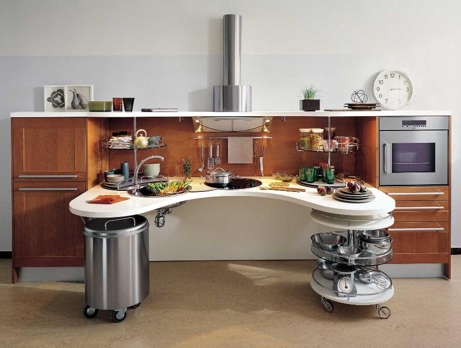 Cette cuisine design de Snaidero s'intègre partout, même les petites surfaces.