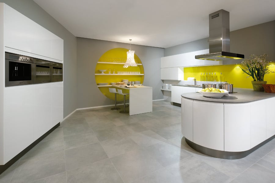 Cuisine ultra design top cuisine avec lot central nos - Cuisine scandinave design ...