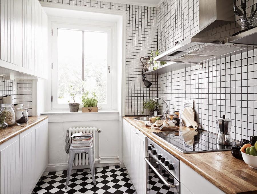 Une petite cuisine scandinave remise au goût du jour.