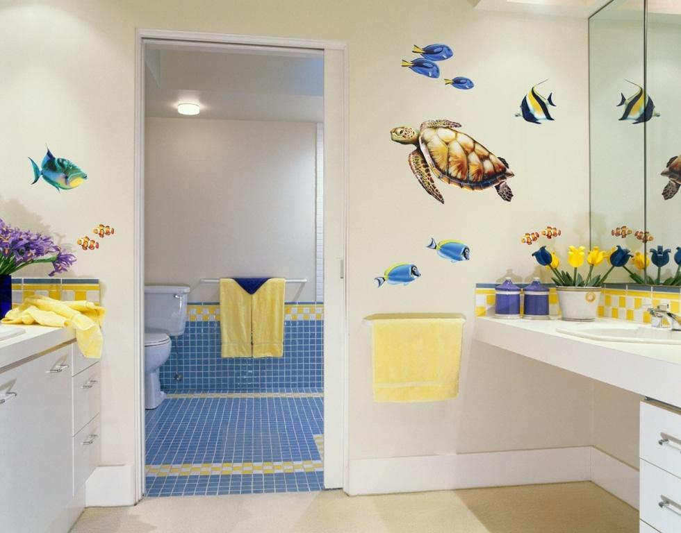 Une salle de bain esprit marin