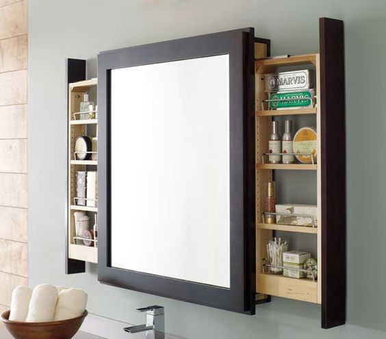 Exemple de meuble-miroir. Source: https://fr.pinterest.com/pin/337770040779152562/