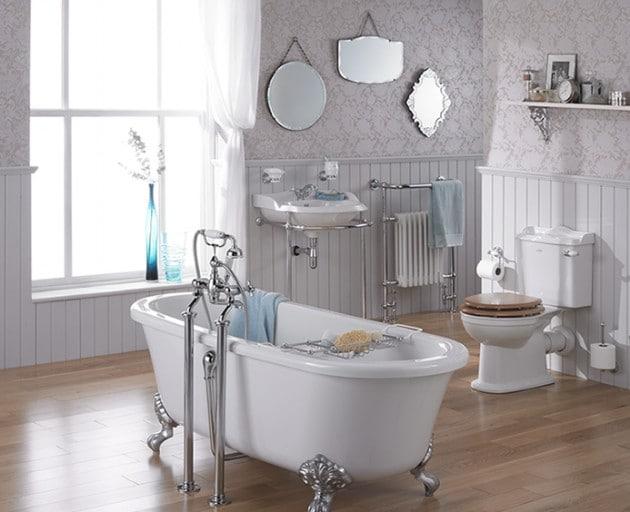 salle de bain retro 16 modeles au charme de lancien With salle de bain design avec décoration années folles