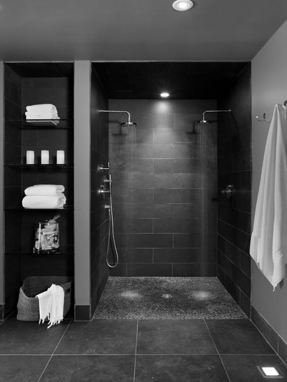 8 exemples de douche l italienne la douche pur e et tendance - Lumiere douche italienne ...