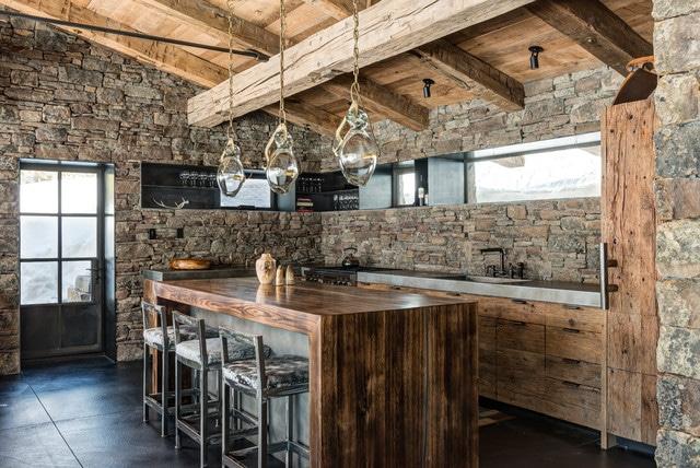 12 raisons d acqu rir une cuisine rustique quelques mod les inspirants - Cuisine chalet montagne ...