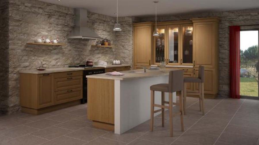 Une cuisine de charme de style campagne avec une touche de modernité.