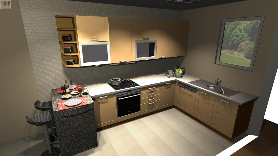 cuisine en 3d facile armoires de cuisine elegant
