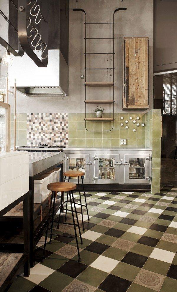 cuisine rétro moderne de style industriel - 12 modèles de cuisine rétro moderne : un savant mélange d'hier et d'aujourd'hui