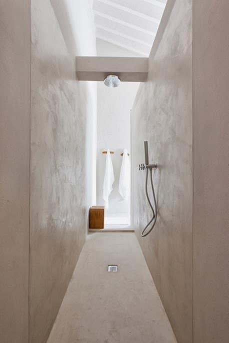douche italienne etroite
