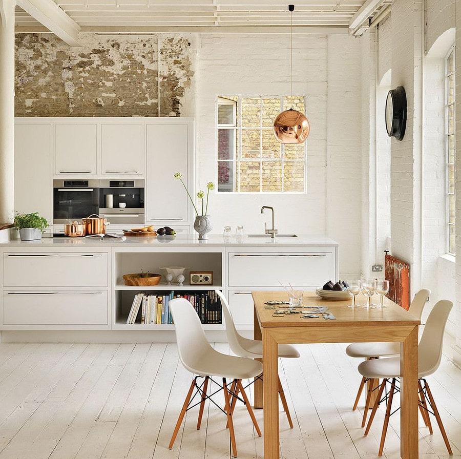 Du chic et du charme dans cette cuisine design d'inspiration scandinave.