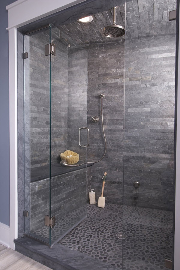 Salle de bain en pierre naturelle : le minéral s\'invite en 10 modèles