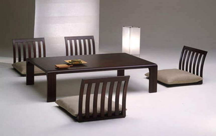 Minimaliste table à manger japonaise