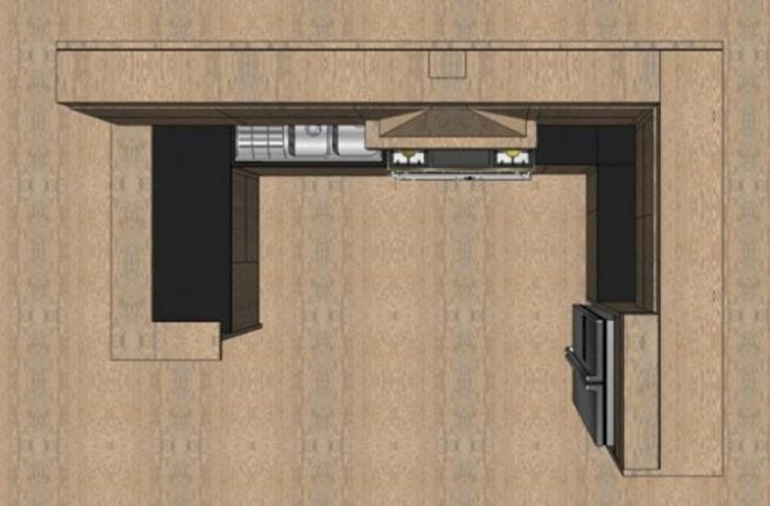 cuisine 3d 6 id es de 8 m 25 m. Black Bedroom Furniture Sets. Home Design Ideas