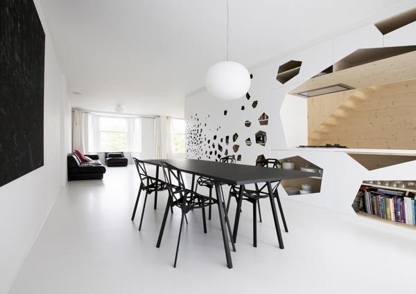 salle à manger noir et blanc minimaliste - Salle à manger aux accents minimalistes : 6 modèles entre pureté et raffinement