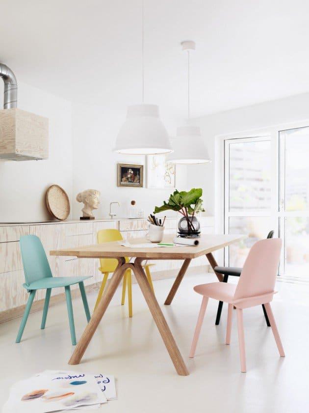 Salle à manger d\'inspiration scandinave : la sobriété du mobilier ...