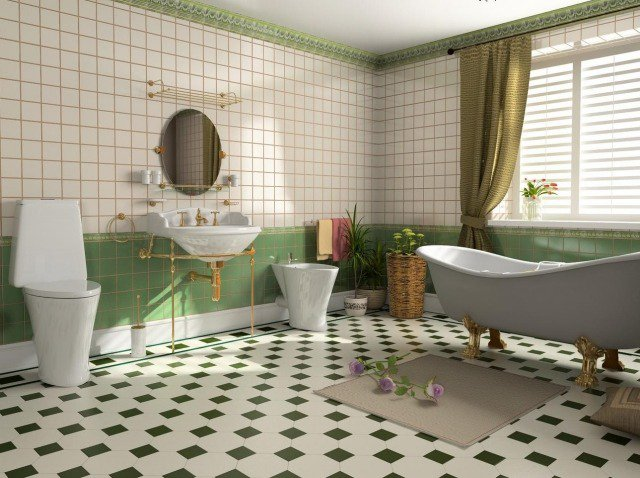 Une salle bain zen avec une baignoire sur pieds. Source : stylesdebain.fr