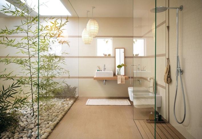 salle de bain beige idee deco tendance