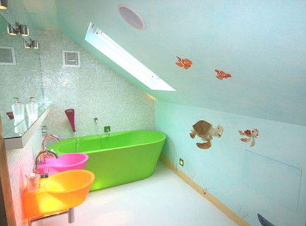 salle-de-bain-enfant-mansardee