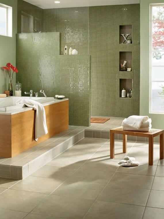 7 salles de bain vertes étonnantes: la fraîcheur dans votre ...