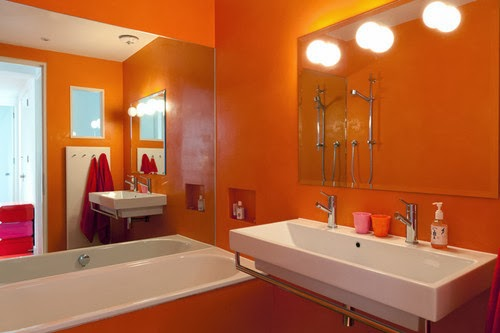 salle de bain orange ces 5 mod les vont vous faire changer d avis. Black Bedroom Furniture Sets. Home Design Ideas