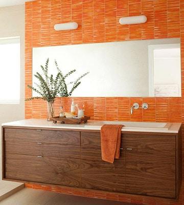 salle de bain orange2 - Salle de bain orange: ces 5 modèles vont vous faire changer d'avis sur l'orange