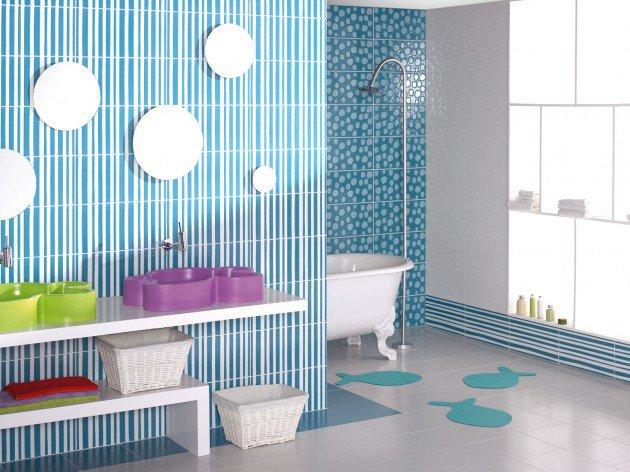salle-de-bain-pour-enfant-verte
