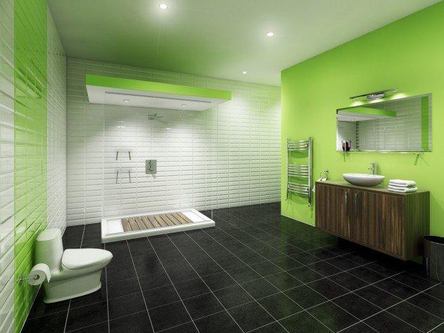 salle de bain vert et noir - 7 salles de bain vertes étonnantes: un vent de fraîcheur dans votre salle de bain