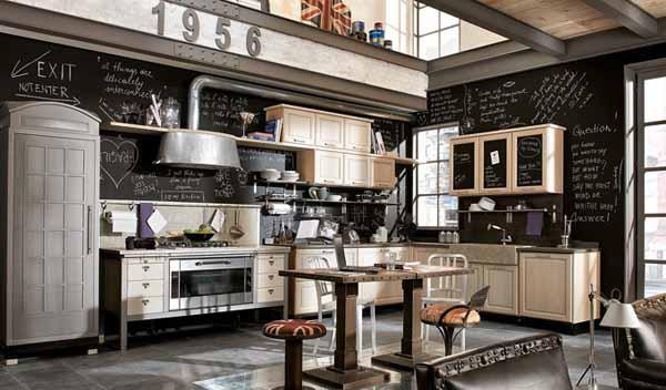 style rétro industriel - 12 modèles de cuisine rétro moderne : un savant mélange d'hier et d'aujourd'hui