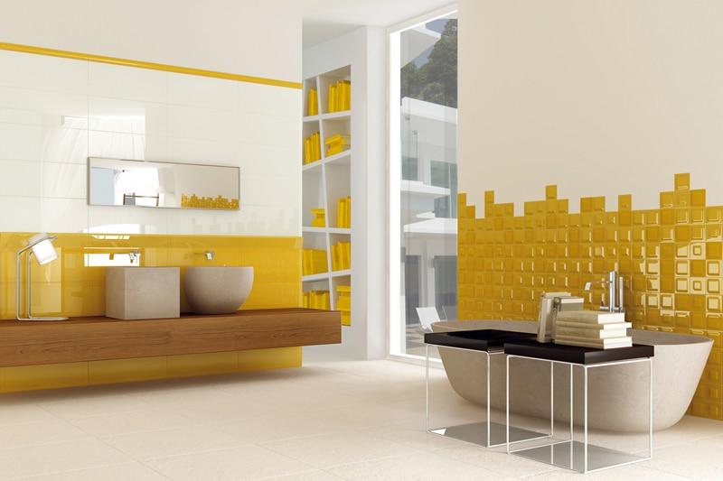 Salle de bain jaune 10 mod les pour vous faire changer d - Couleur pour salle de bain que faire du jaune ...