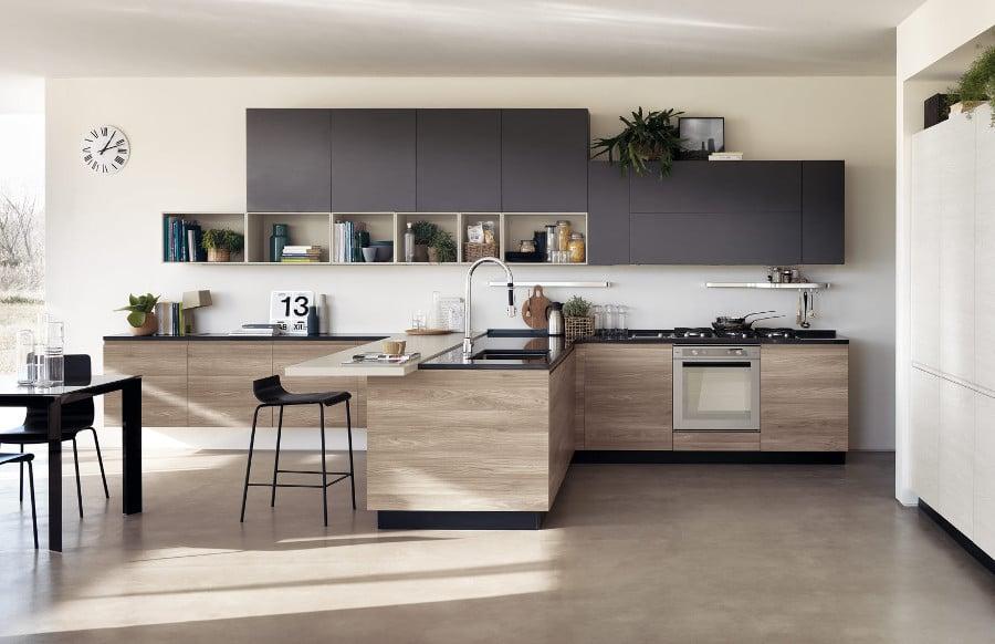 11 modèles de cuisine en bois moderne : la chaleur du bois ...